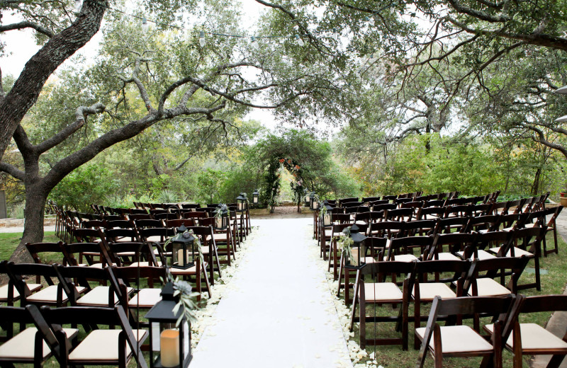 Wedding venue at The Retreat at Balcones Springs.