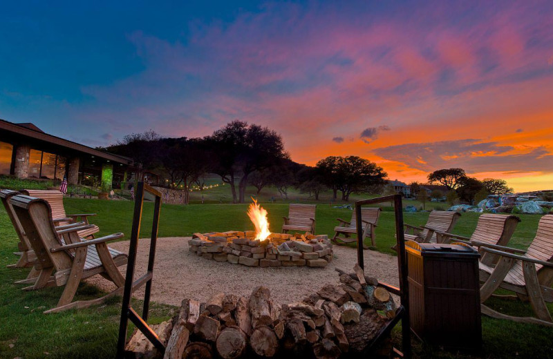 Fire pit at Tapatio Springs Hill Country Resort.