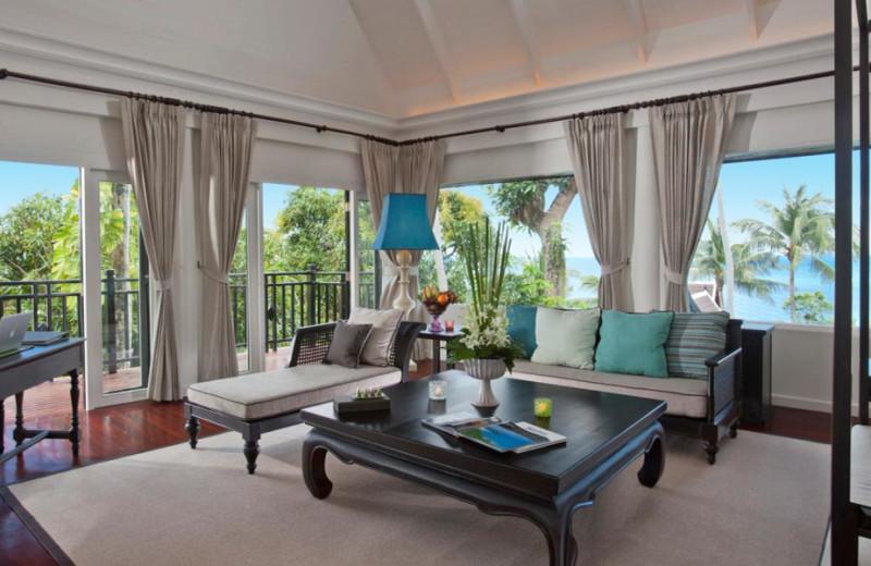 Guest room at InterContinental Samui Baan Taling Ngam Resort.