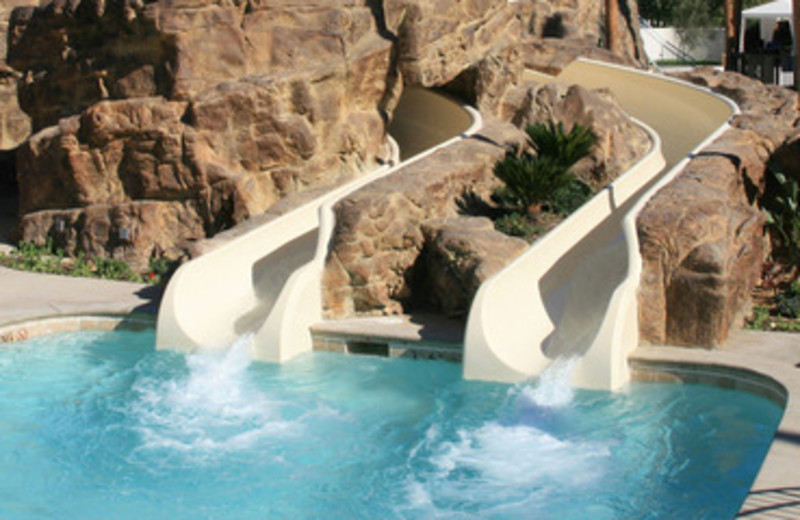 Double Slide Pool at Rancho Las Palmas Resort