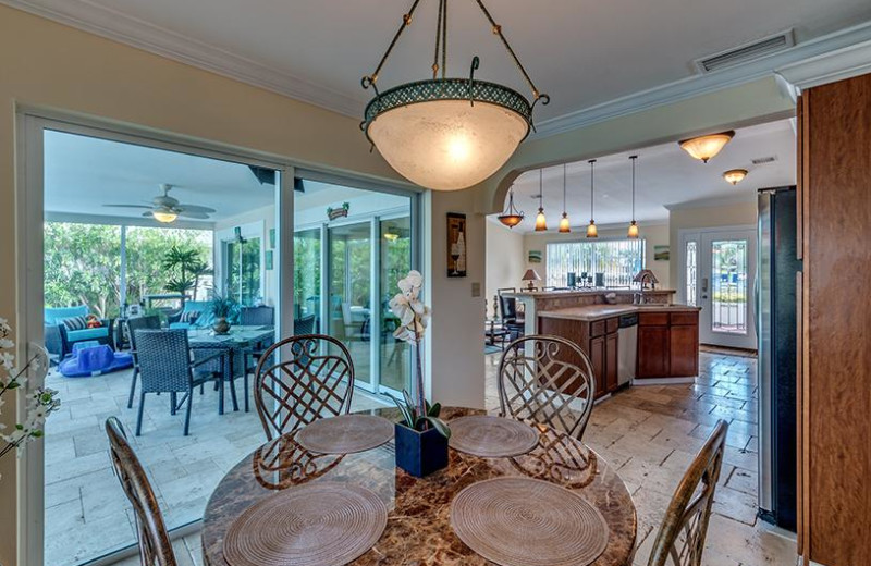 Rental dining room at Belloise Realty.