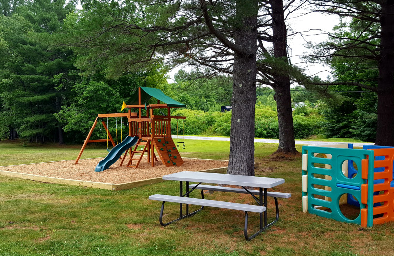 Playground at Riverbank Motel & Cabins.