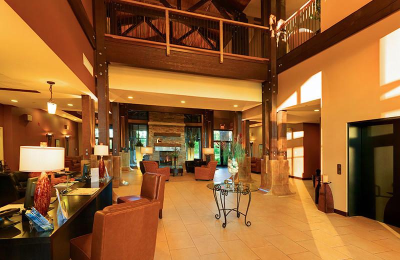 Front lobby at Sunrise Ridge Resort.