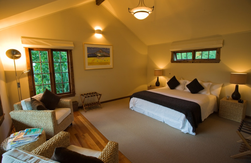 Guest room at Owen River Lodge.