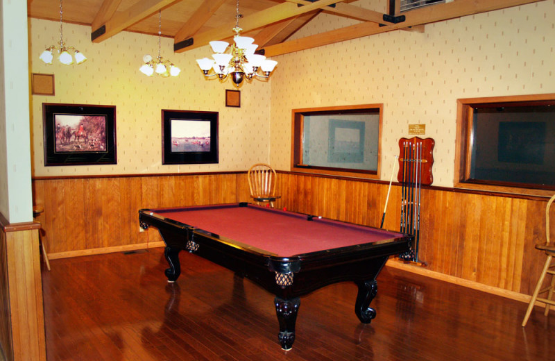 Game Room at the Mountain Retreat