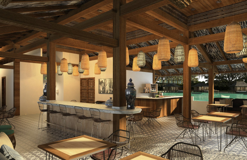 Render of restaurant at Bocas Bali Resort.