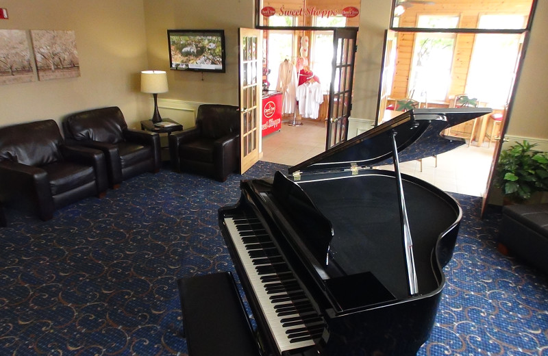 The lobby at The Cherry Tree Inn & Suites.
