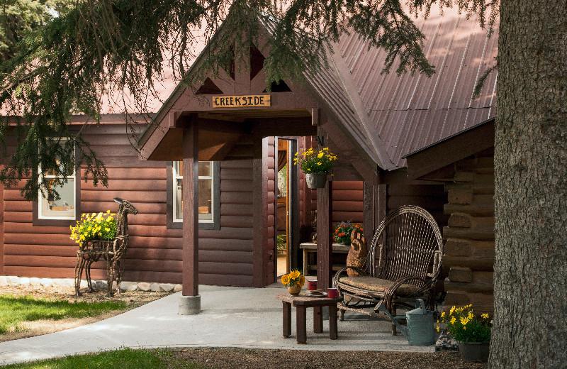 Cabin exterior at O-Bar-O Cabins.