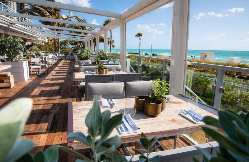 Dining at Eden Roc Miami Beach.