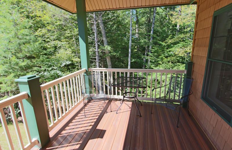 Deck view at Attitash Mountain Village Resort.