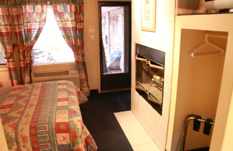 Cabin amenities at Old Creek Resort.