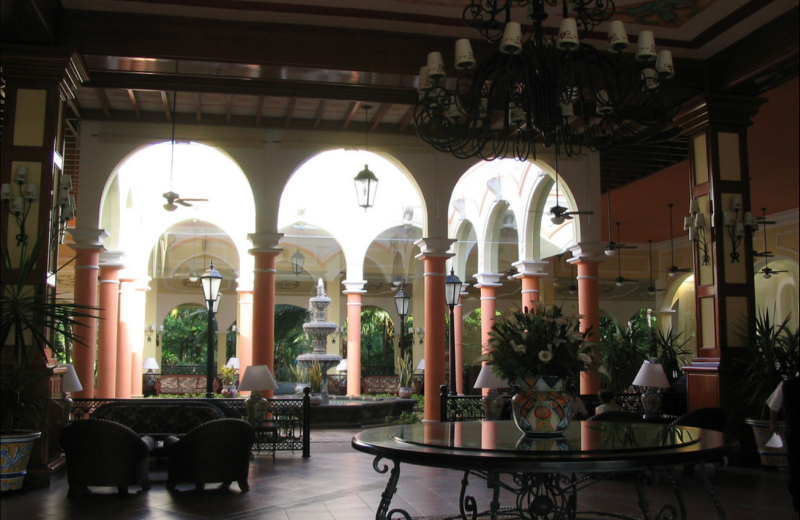 Lobby at ClubHotel Riu Tequila.