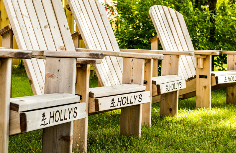 Chairs at Holly's Resort.