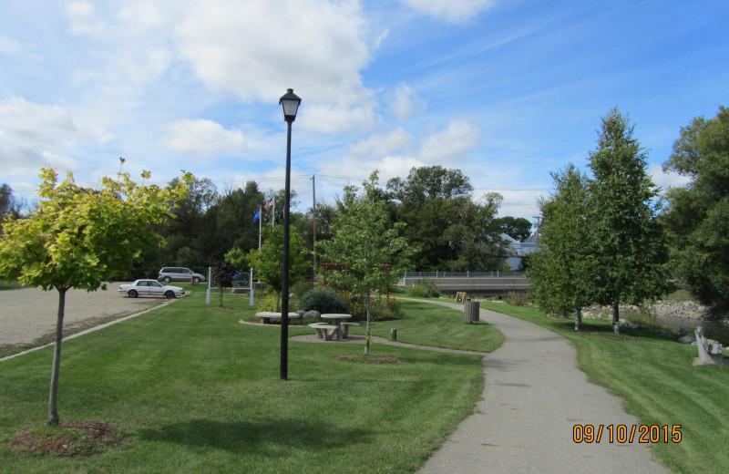 Picnic area at Sherin Memorial Park.