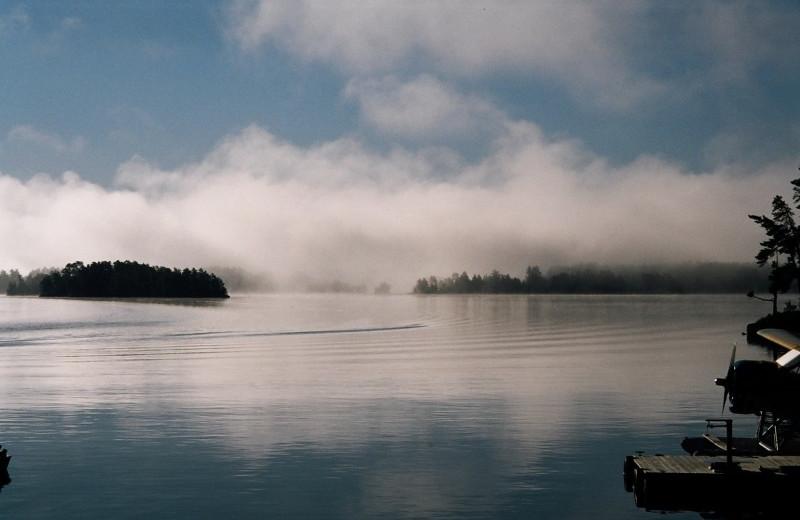 Lake view at Campbell's Cabins Fishing Resort.