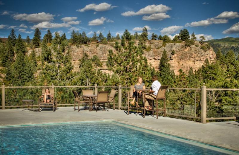 Outdoor pool at Tamarron Vacation Rentals.