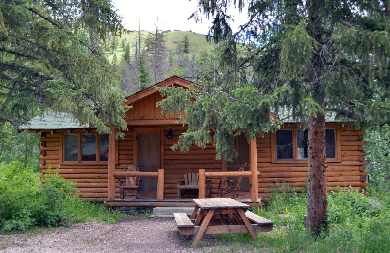 Cabin exterior at Shoshone Lodge & Guest Ranch.