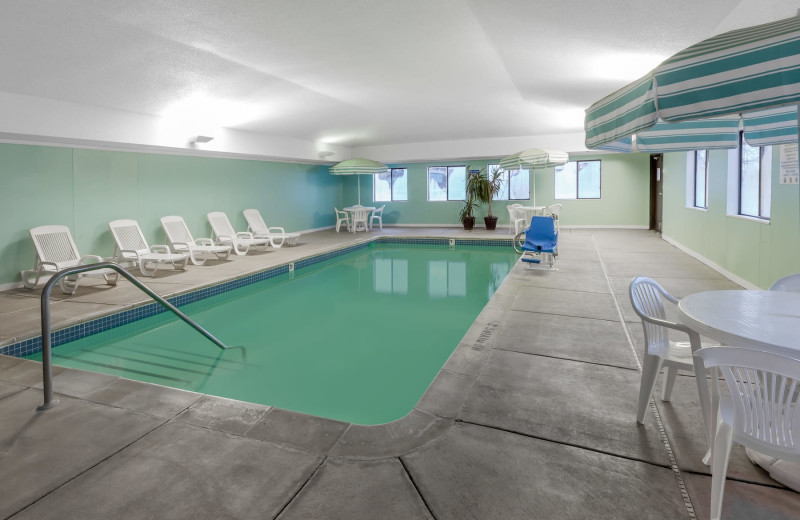 Indoor pool at Baymont InnSuites Gaylord.