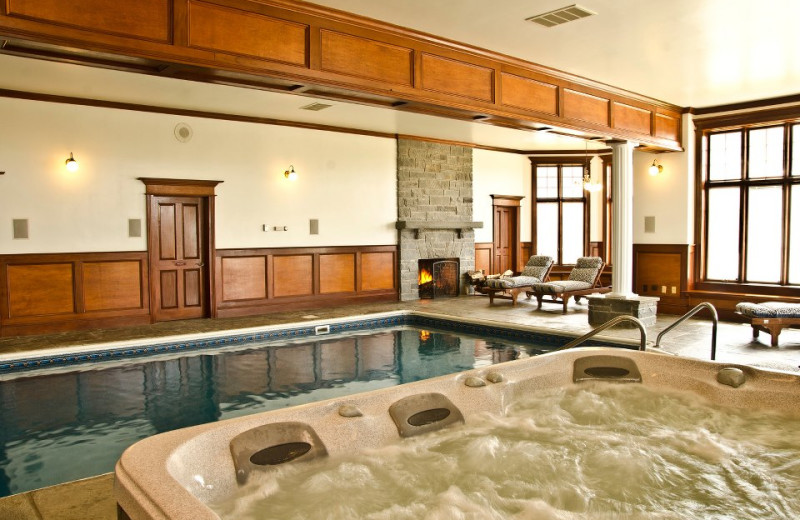 Indoor pool at B & B Ranch.