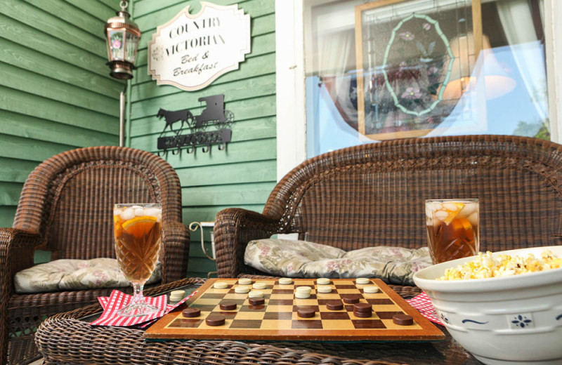 Relax on the porch at Country Victorian Bed and Breakfast.