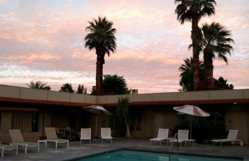 Outdoor pool at Orbit In Hotel.