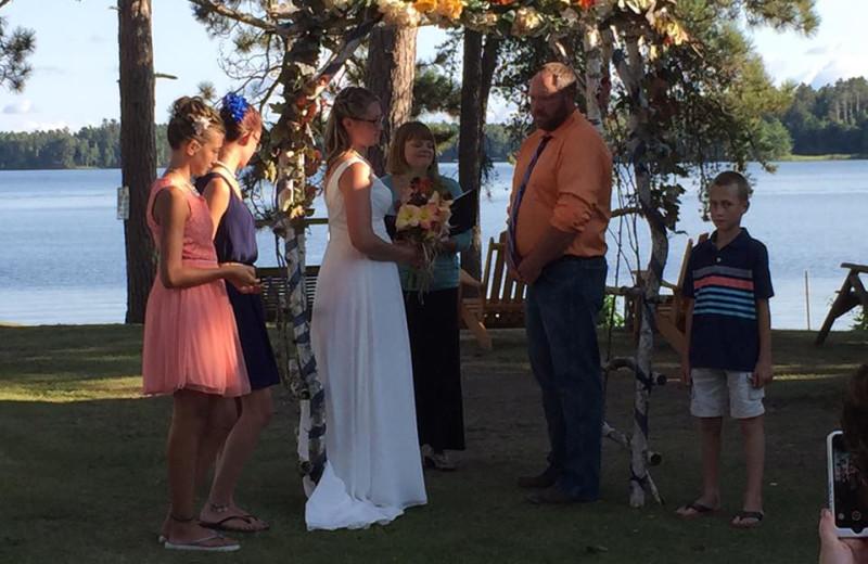 Wedding at Twin Springs Resort.