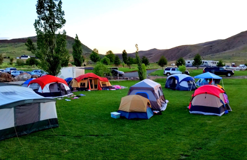 Campground at Roystone Hot Springs.