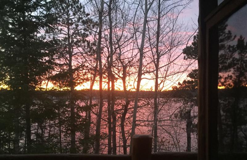 Sunset at Buckhorn on Caribou Lake.
