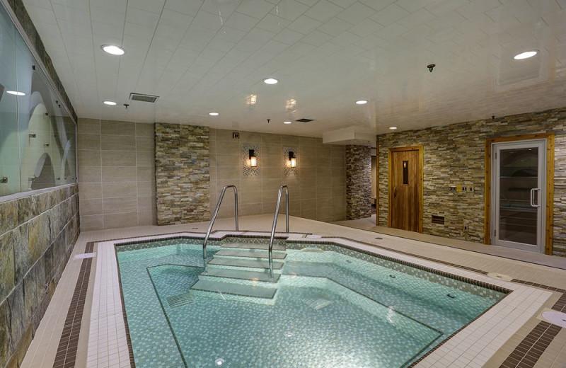 Hot tub at Banff Inn.