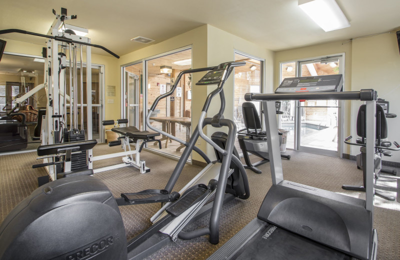 Fitness room at Mill Creek Hotel.