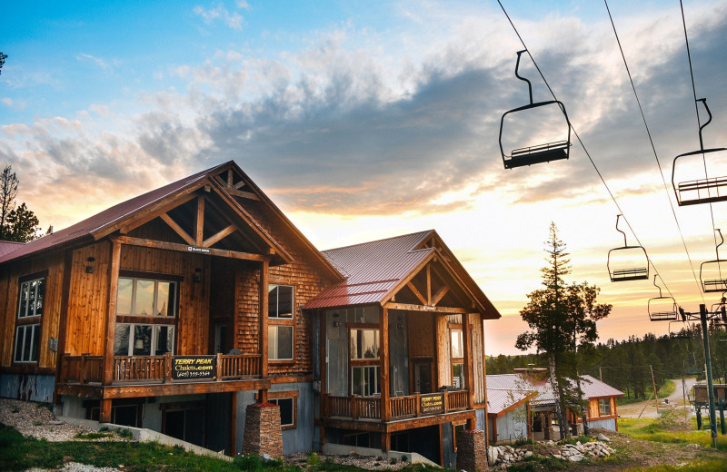 Exterior view of Terry Peak Chalets.