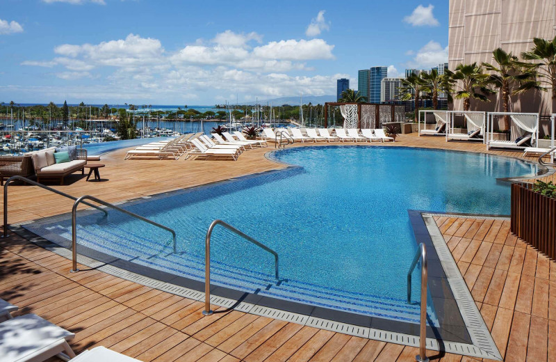 Outdoor pool at Prince Waikiki.