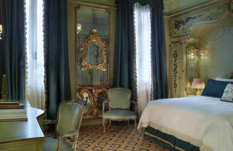 Guest room at Hotel Gritti Palace.