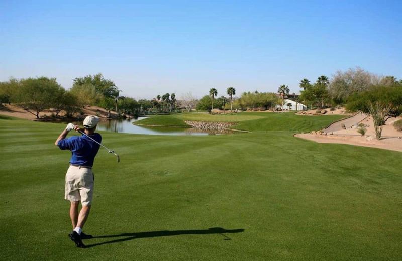 Golf course at Hampton Inn Tucson-North.