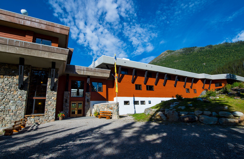 Exterior view of Bugaboos Lodge.