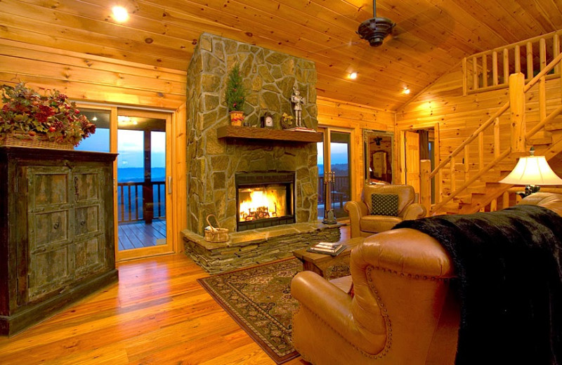 Cabin living room at Cabin Rentals of Georgia.