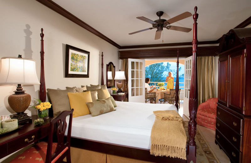 Guest room at Sandals Inn.
