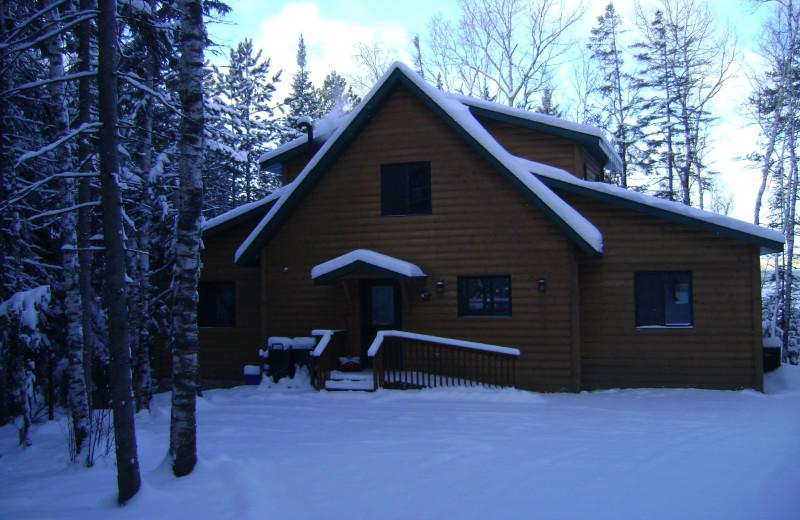 Cabin exterior at Timber Trails Resort.