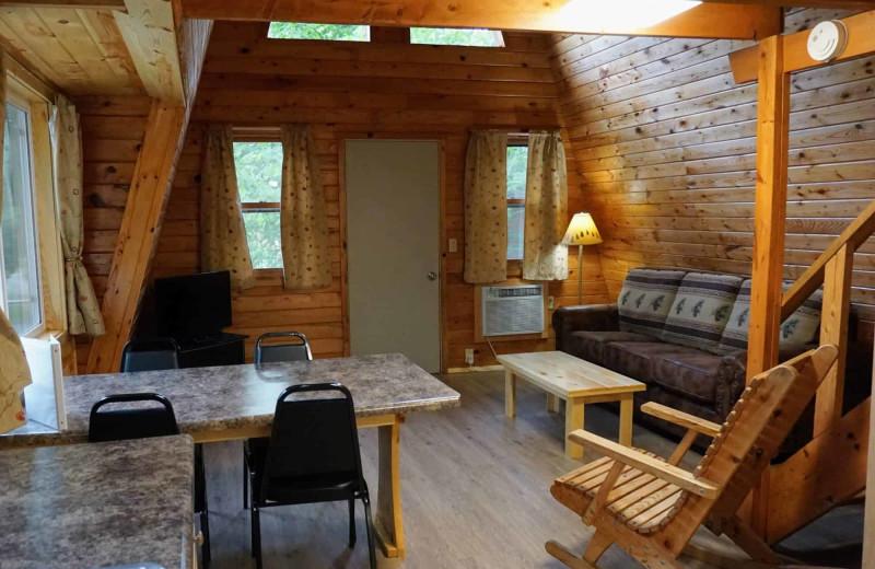 Cabin interior at Little Norway Resort.