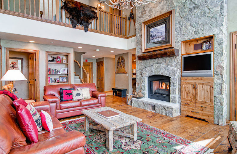 Rental living room at Beaver Creek Rentals by Owner.