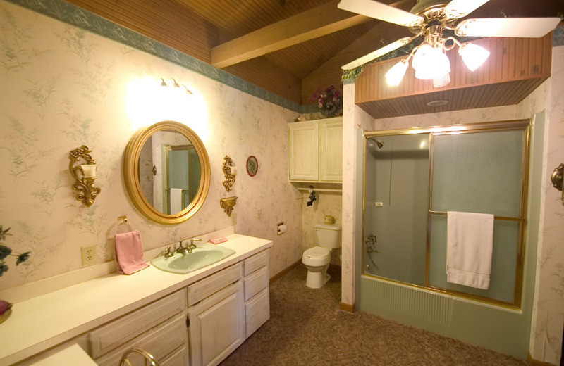 Cottage bathroom at Norfork Resort & Trout Dock.