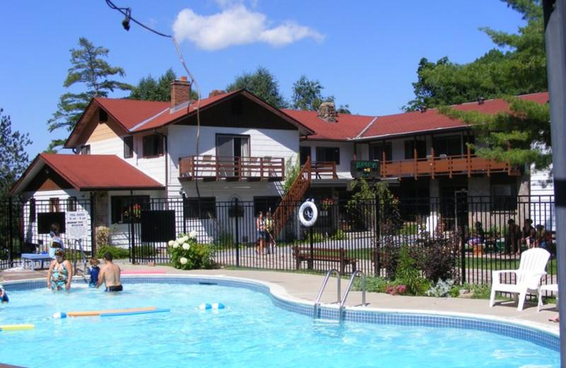 Outdoor pool at Lumina Resort.