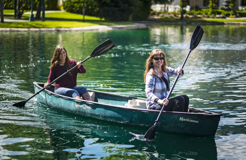 Canoeing at Wonder Valley Ranch Resort.
