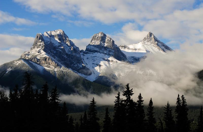 Mountains at Grande Rockies Resort.
