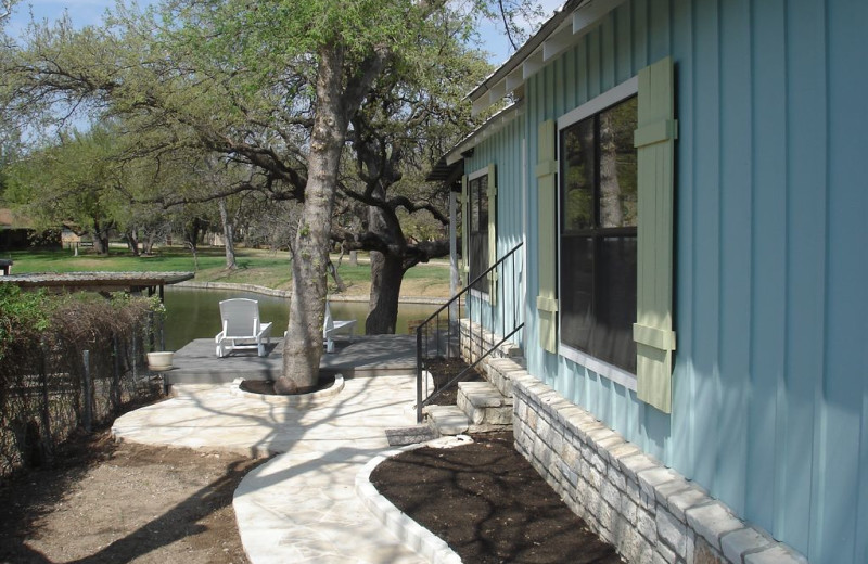 Exterior view of Turtle Rock Cottage on Lake LBJ.