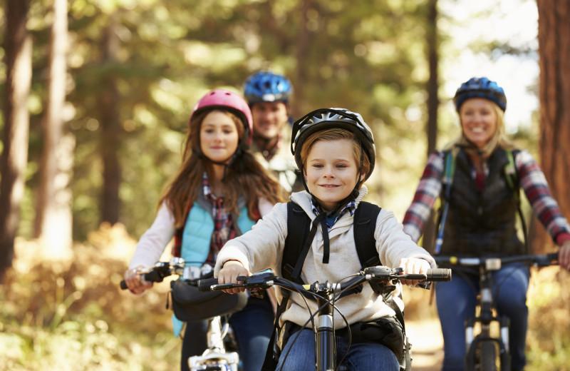 Biking at The Glen Eden Resort.