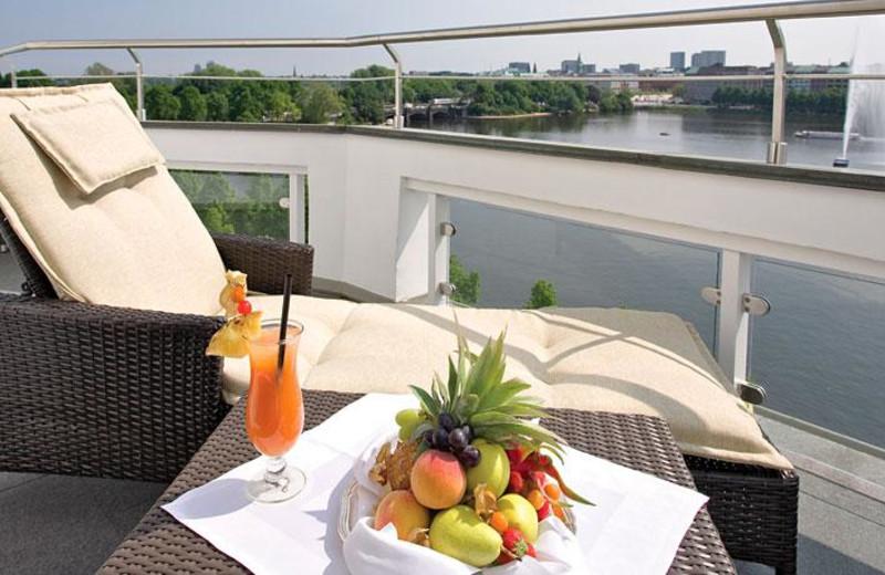 Balcony view at Fairmont Hotel Vier Jahreszeiten.