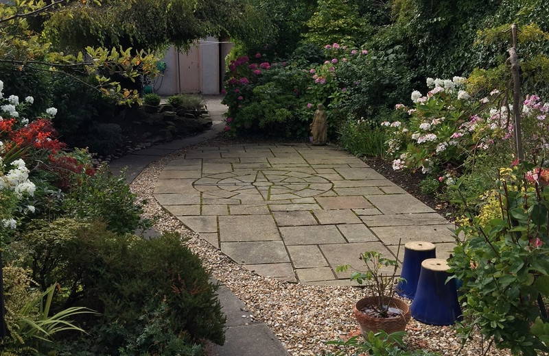 Garden at Aslar House.