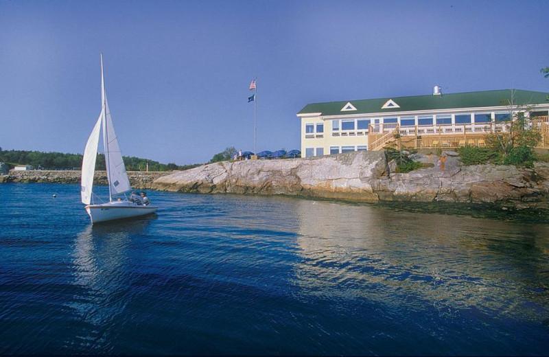 Exterior view of Sebasco Harbor Resort.
