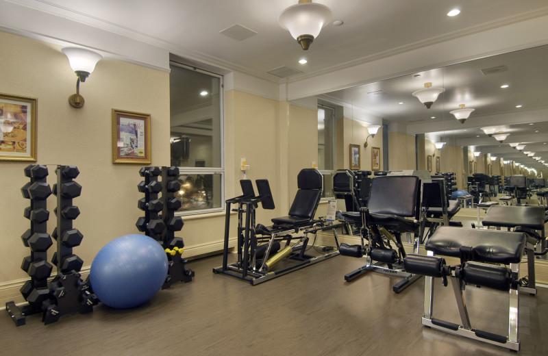 Fitness center at Fairmont Le Chateau Frontenac.